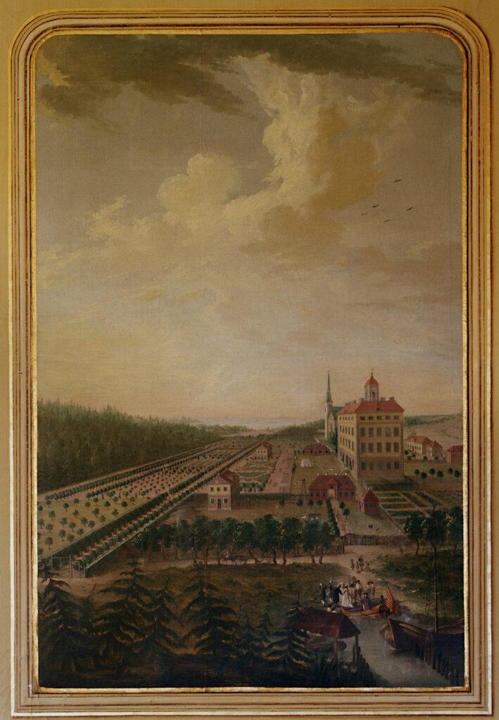Denna bild har ett alt-attribut som är tomt. Dess filnamn är K75-Slottet-o-parken-ca-1740-foto-Jan-Gustafsson-709x1024.jpg